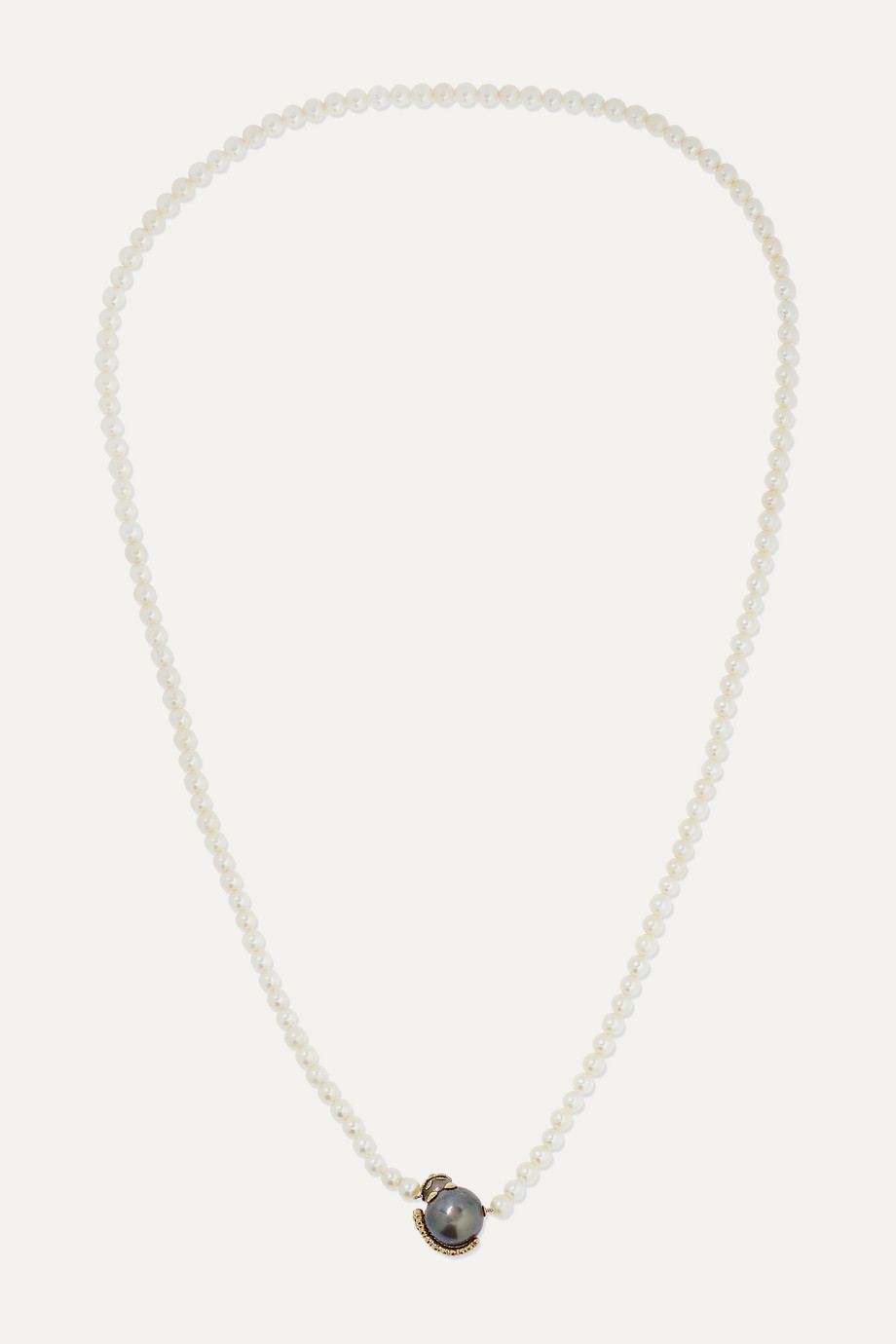 Yvonne Léon 18-karat gold, freshwater pearl and diamond necklace