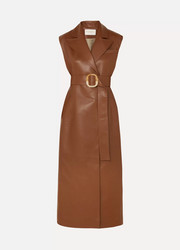 MATÉRIEL Belted vegan leather dress