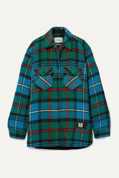 We11 Done T-shirts CHECKED WOOL SHIRT