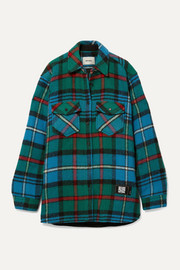we11done Checked wool shirt