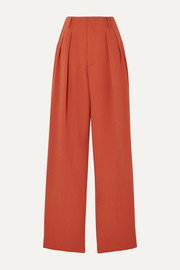 we11done Pleated woven straight-leg pants
