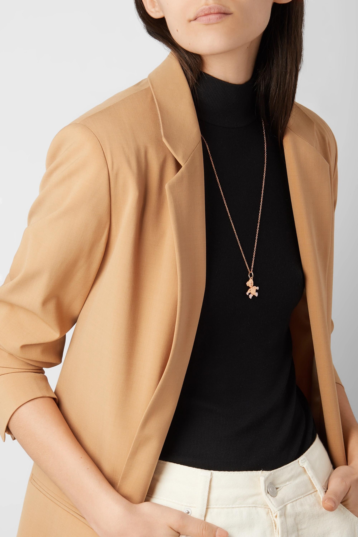 Rose Gold Orsetto Medium 18-karat Diamond Necklace | Pomellato