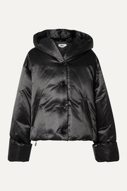 MM6 Maison Margiela Hooded shell down jacket