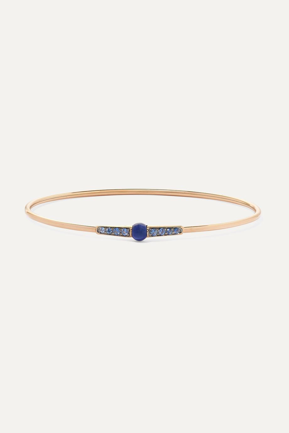 Pomellato M'ama non M'ama 18-karat rose gold, lapis lazuli and sapphire bracelet