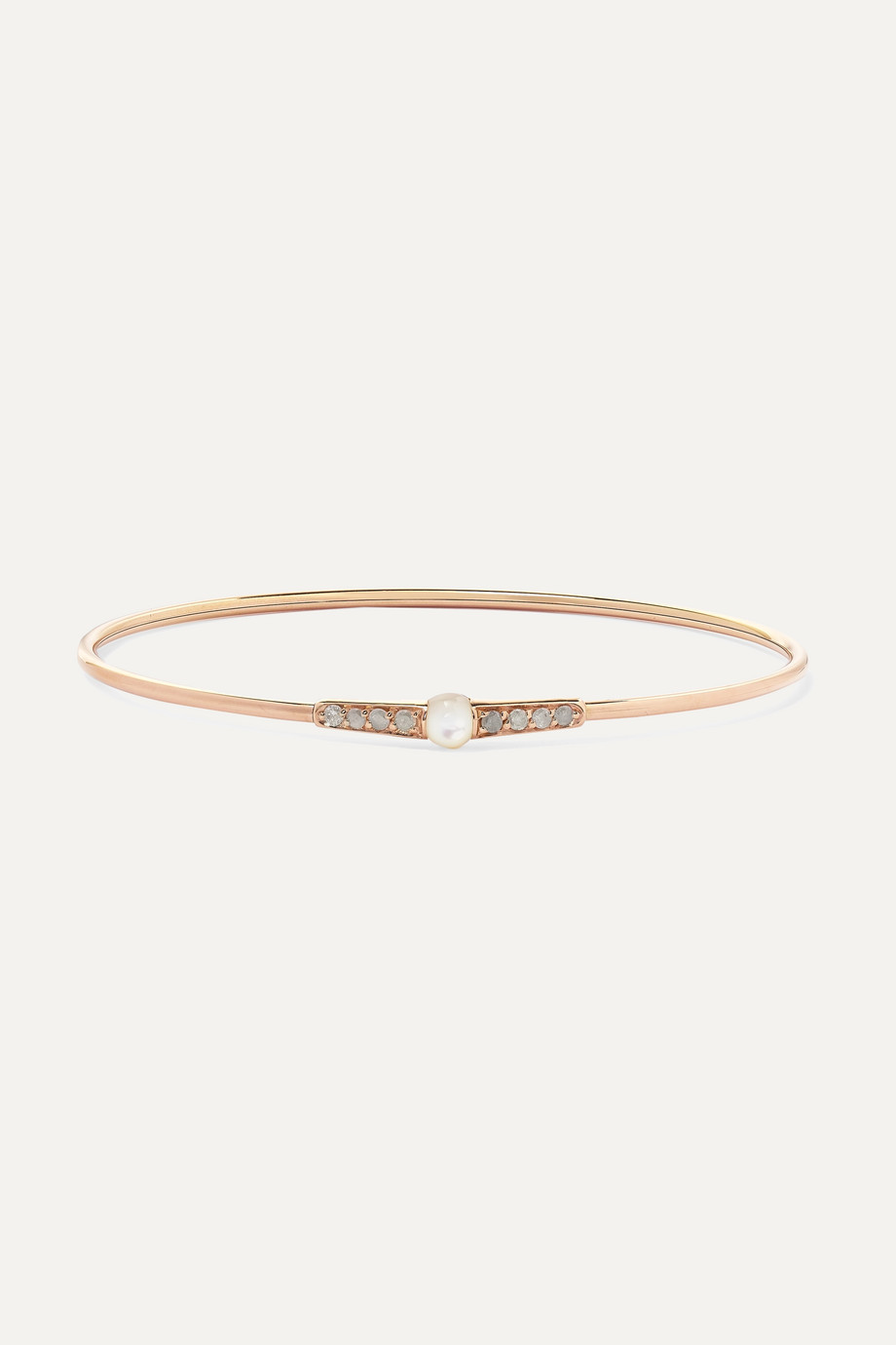 Pomellato M'ama non M'ama 18-karat rose gold, mother-of-pearl and diamond bracelet