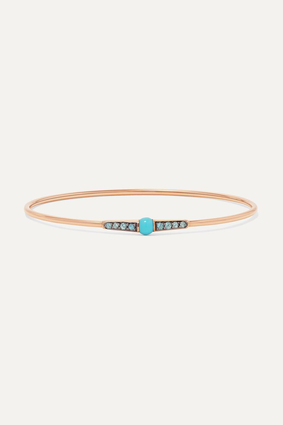 Pomellato M'ama non M'ama 18-karat rose gold, lapis lazuli and zircon bracelet