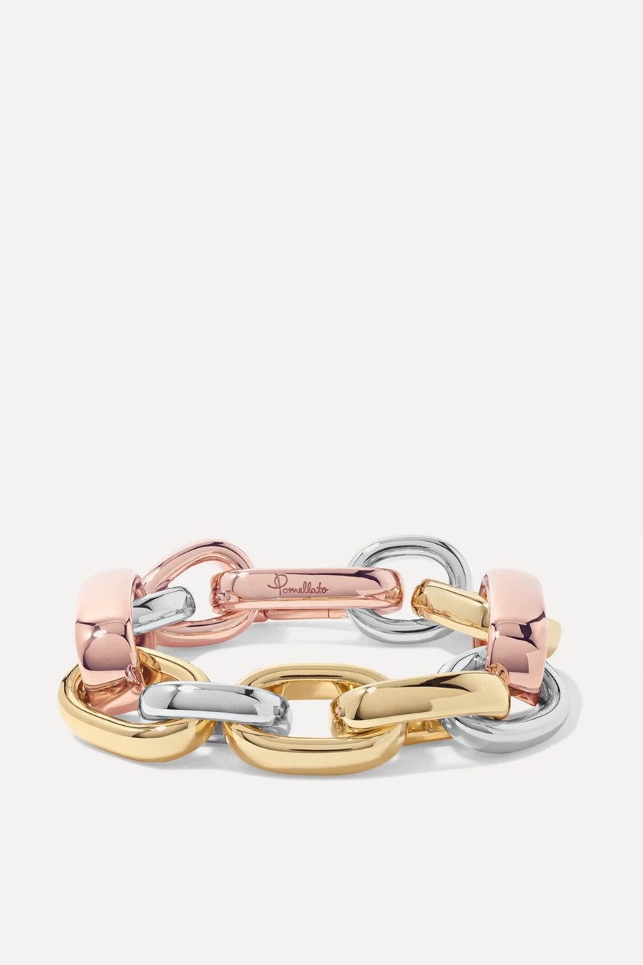 Pomellato Iconica 18-karat yellow and rose gold and rhodium-plated bracelet