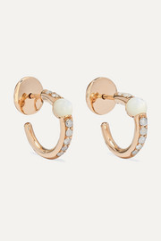 M'ama non M'ama 18-karat rose gold, mother-of-pearl and diamond earrings