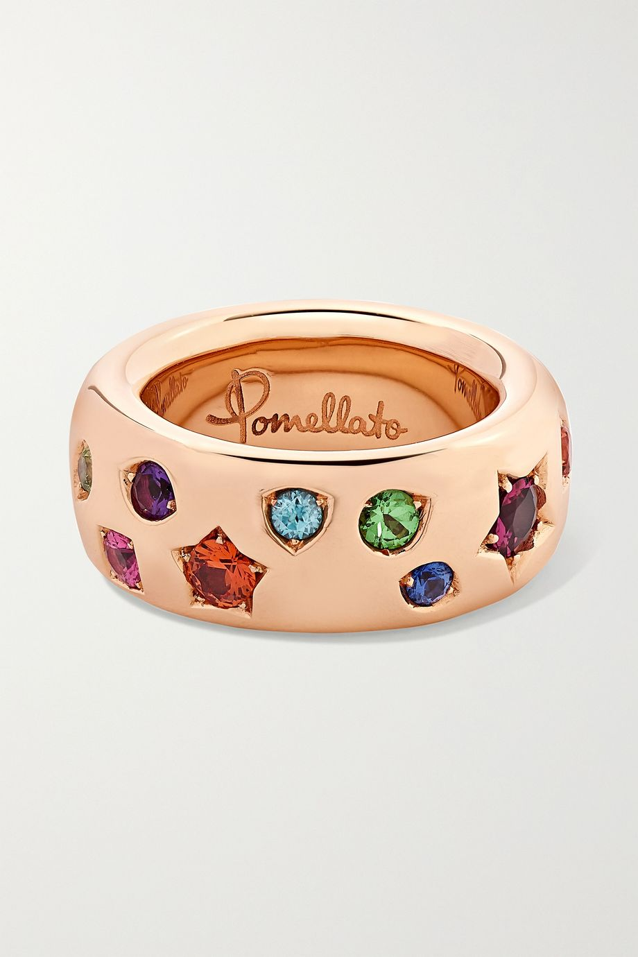 Pomellato Iconica 18-karat rose gold multi-stone ring