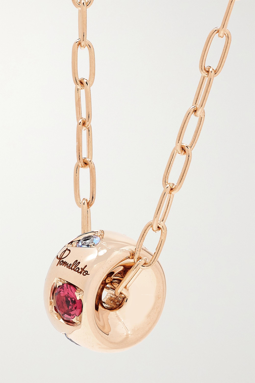 Pomellato Iconica 18-karat rose gold multi-stone necklace