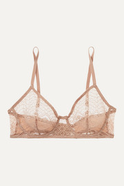 Eres Caraco lace and stretch-jersey underwired soft-cup bra