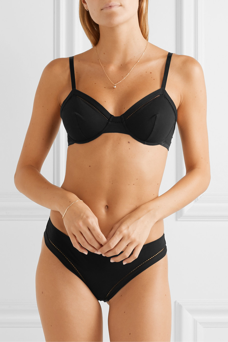 Eres Souvent stretch-cotton jersey underwired soft-cup bra