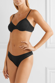 Eres Jamais cutout stretch-cotton jersey thong