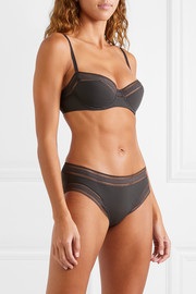 Eres Seventies mesh-trimmed stretch-jersey underwired bra