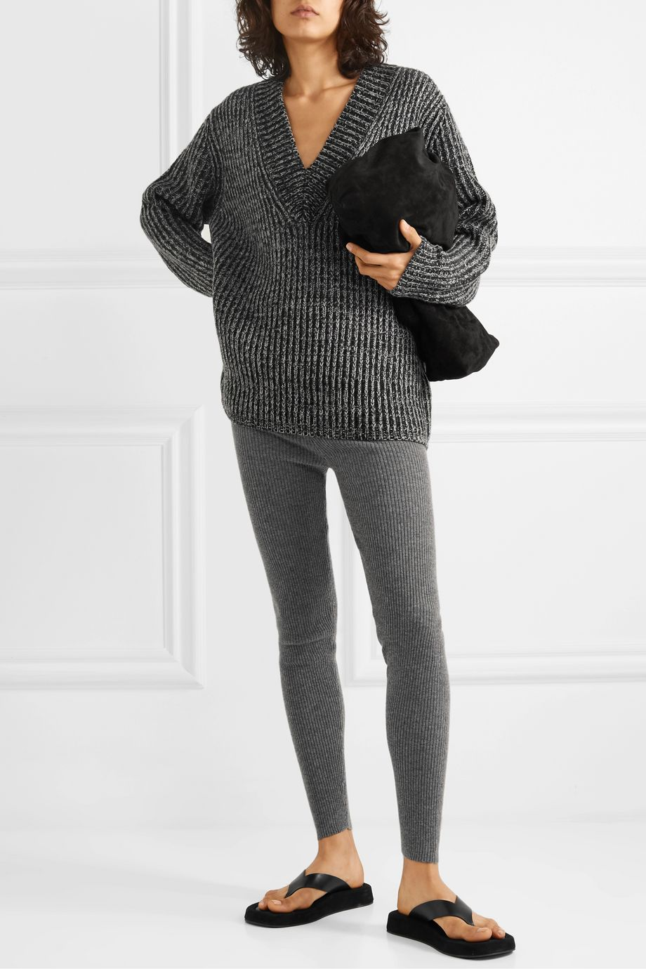 Eres Attitude ribbed wool and cashmere-blend leggings