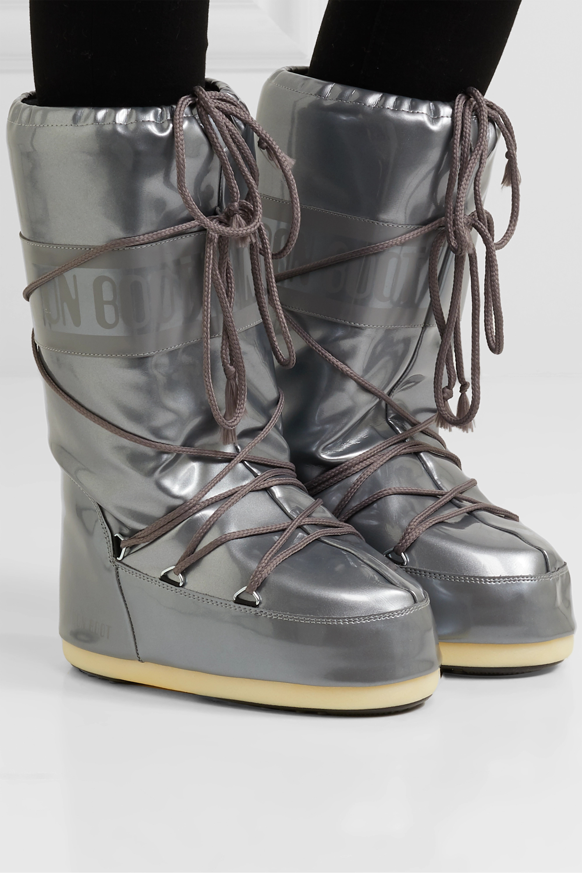 Moon Boot Glance metallic rubber snow boots