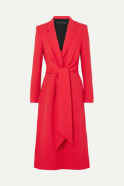 Roland Mouret Hollywell belted wool-crepe coat