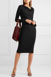 Liman fluted crepe dress