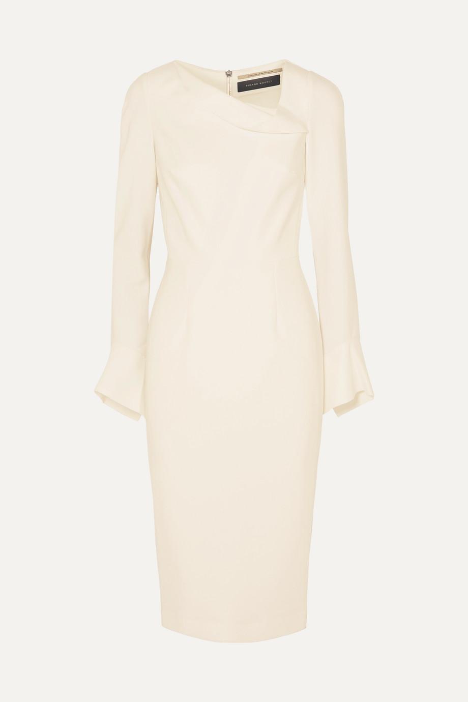 Roland Mouret Liman fluted crepe dress
