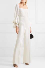Bethany wool-crepe jumpsuit