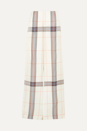 Tayport checked woven wide-leg pants