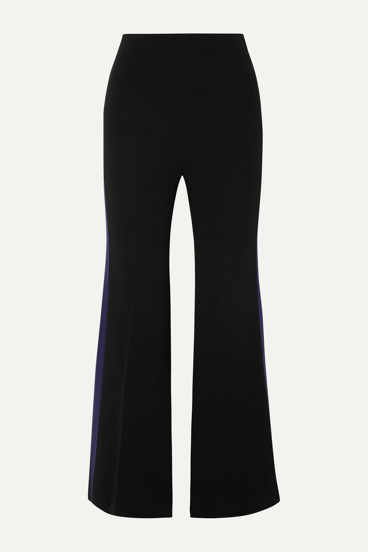 Roland Mouret Madison striped crepe flared pants