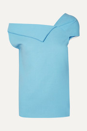 Raywell draped wool-crepe top