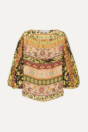 Etro Printed silk-crepe top