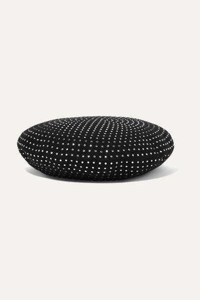 Saint Laurent Sequinned Studded Beret Hat - 黑色 In Black