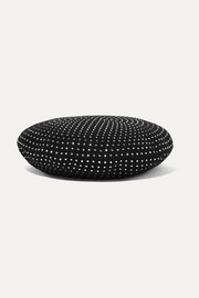 SAINT LAURENT Crystal-embellished wool-felt beret