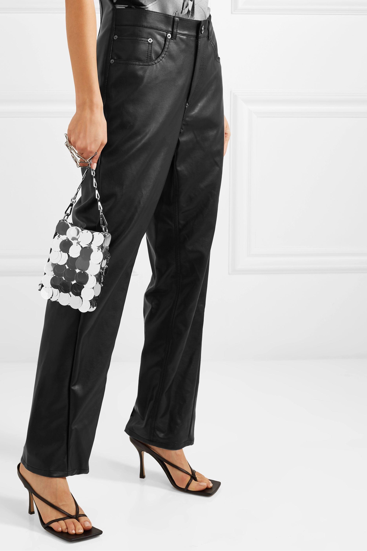 Paco Rabanne Sparkle 1969 mini paillette-embellished faux leather shoulder bag