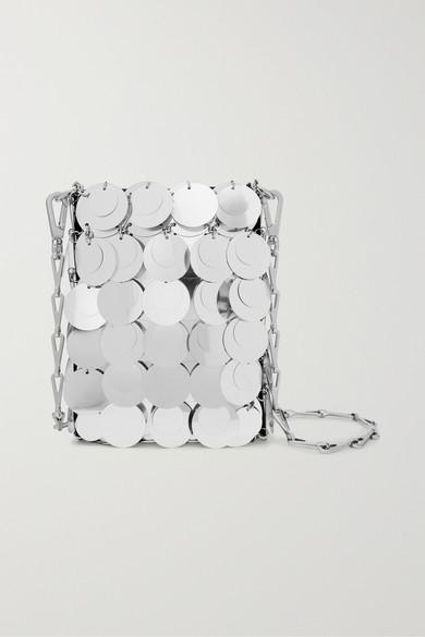 Sparkle 1969 Mini Paillette Embellished Faux Leather Shoulder Bag by Paco Rabanne