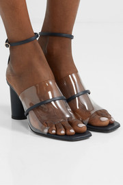 Tuber leather and PVC sandals