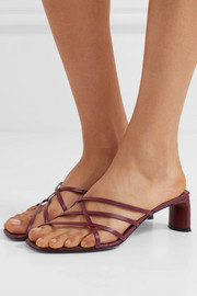 Mannia leather sandals