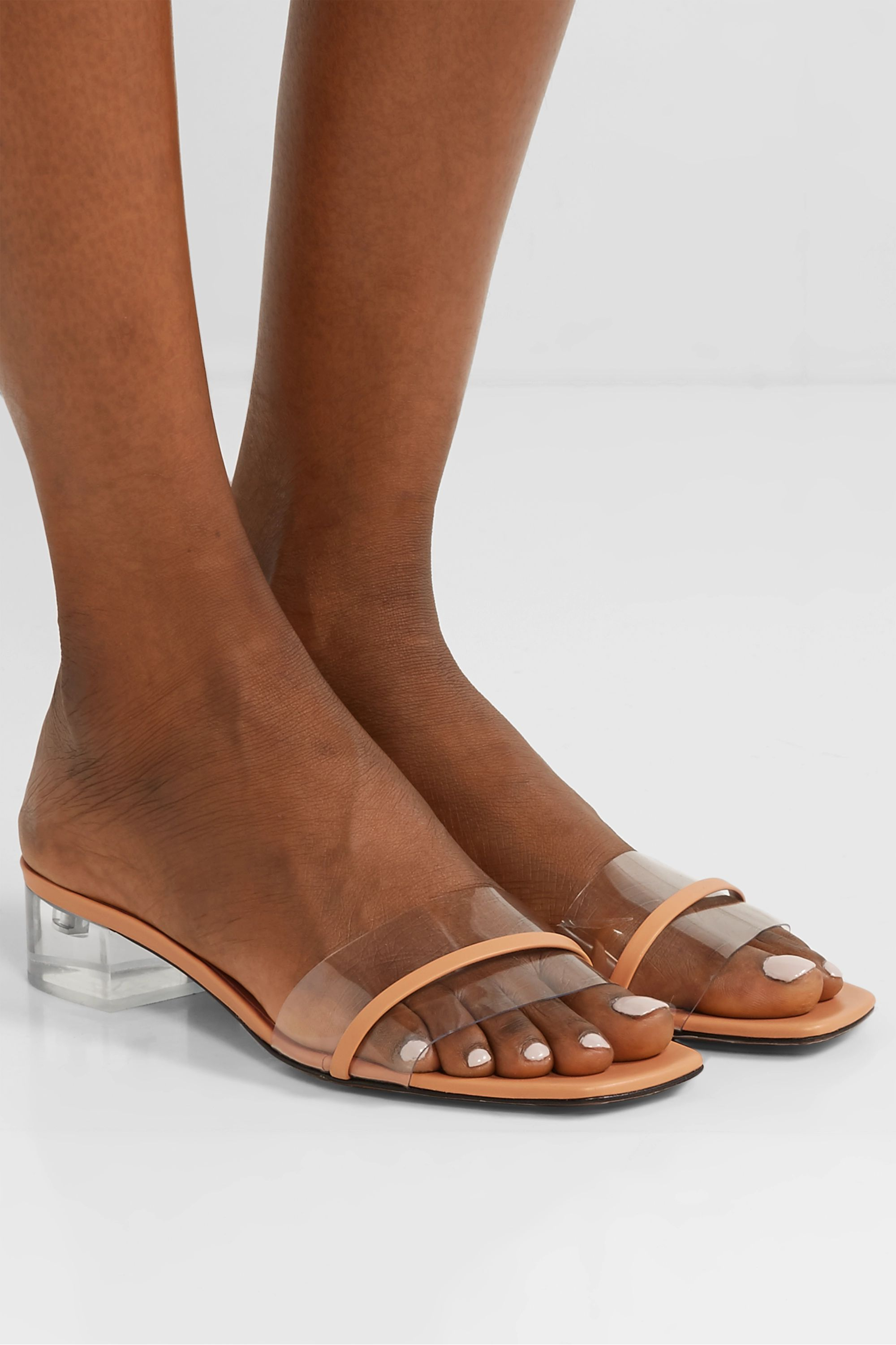 Neous Osty PVC and leather mules
