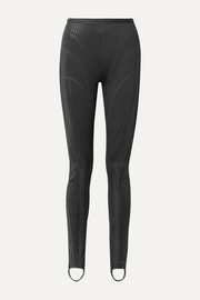 Embossed neoprene skinny stirrup pants