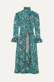 Gisele ruffled floral-print cotton maxi dress