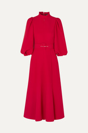 Andrew Gn Belted crepe midi dress