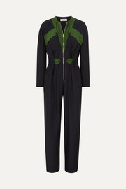 Sonia Rykiel Color-block silk jumpsuit