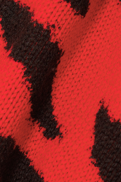 Philosophy Di Lorenzo Serafini Knits Zebra-intarsia wool cardigan