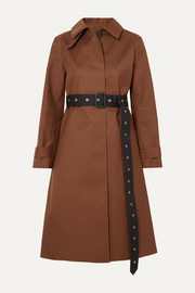 Roslin belted bonded wool and mohair-blend coat