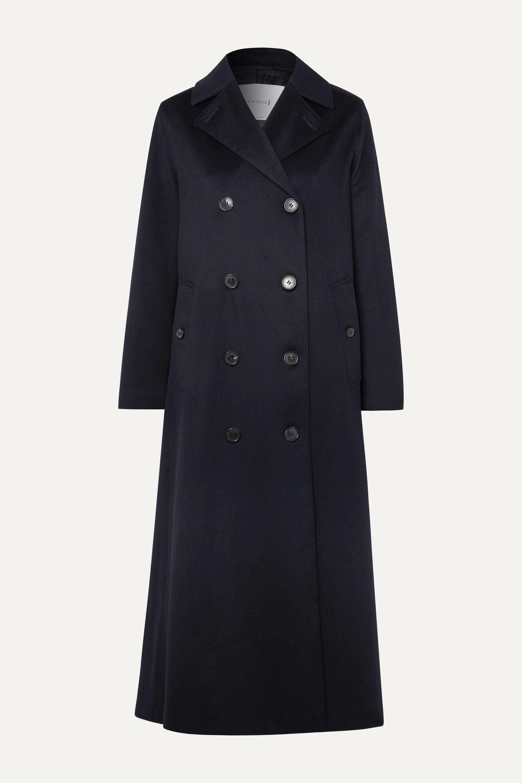 Cashmere Trench Coat in Navy Women