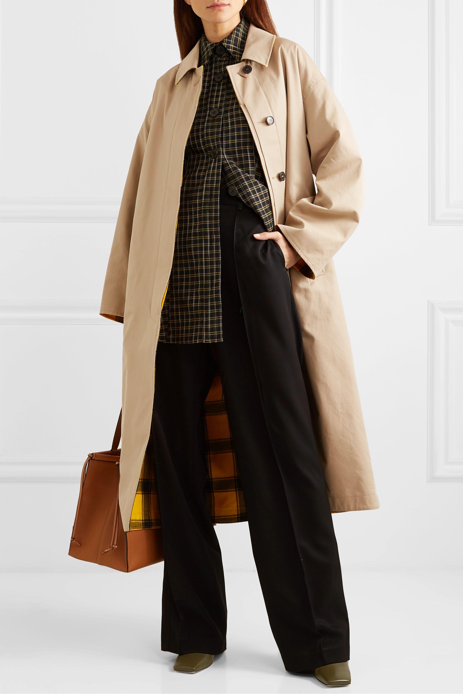 Mackintosh Manteau réversible en gabardine de coton et en laine à carreaux Amulree