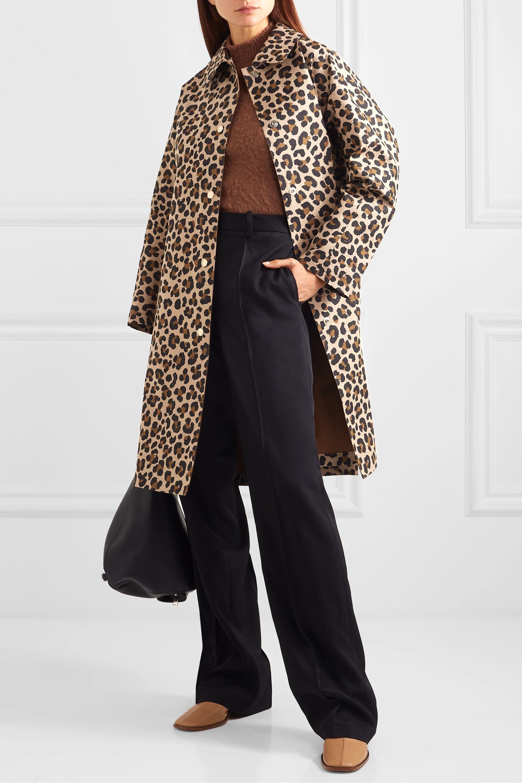 Mackintosh Manteau en coton collé à imprimé léopard Fairlie