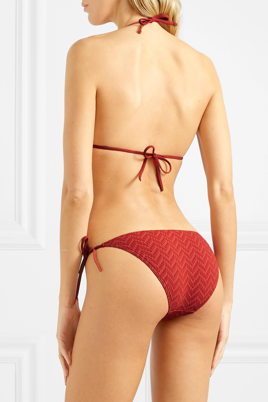 Eres Twill seersucker bikini briefs