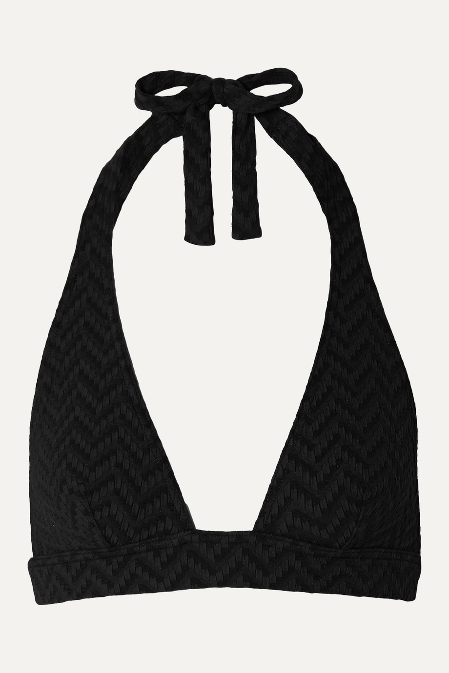 Eres Tailleur seersucker triangle bikini top