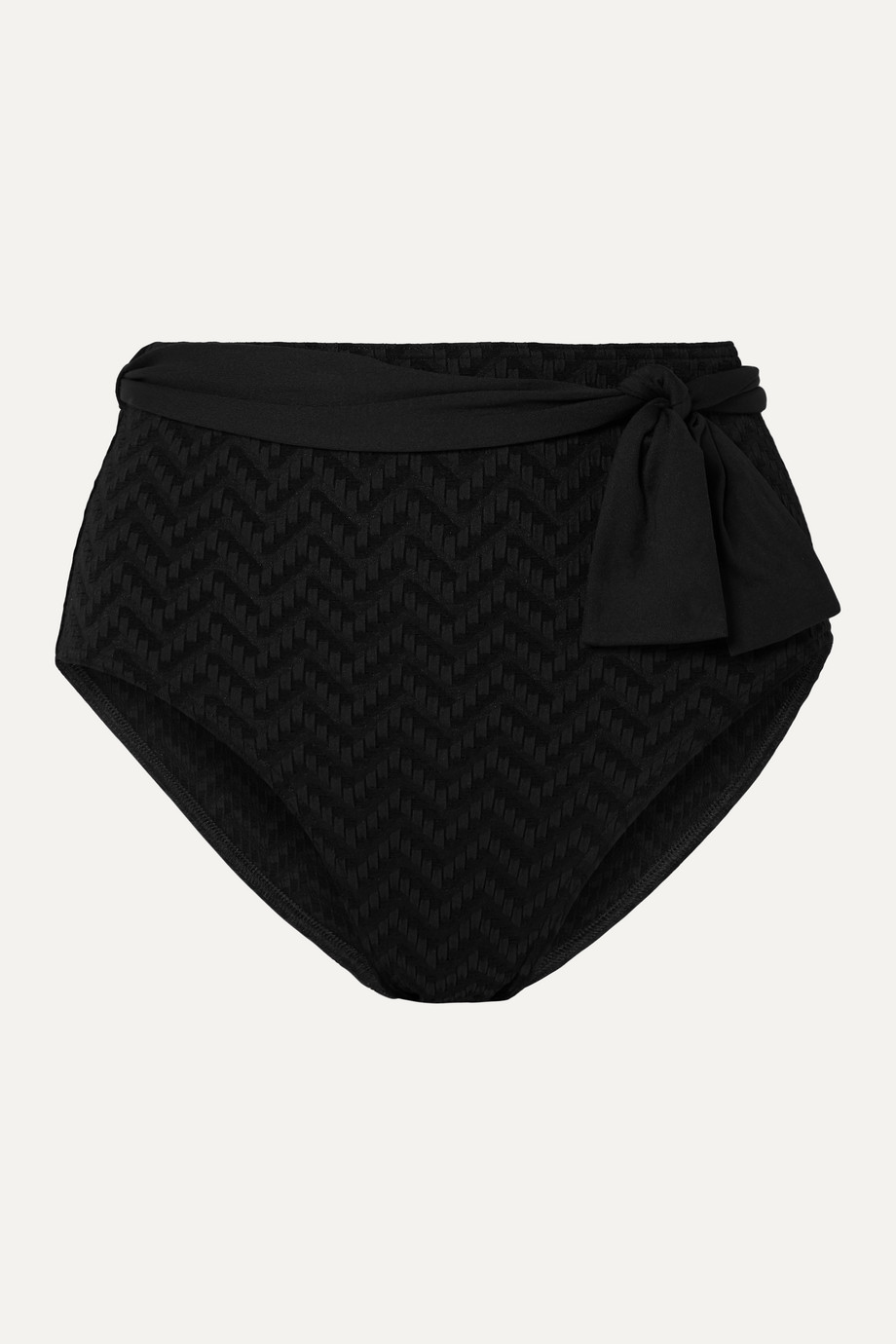 Eres Pochette belted seersucker bikini briefs