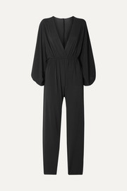 Lou oversized wrap-effect stretch-jersey jumpsuit