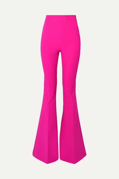 12ea5b801a7b84 Safiyaa Halluana Stretch-Crepe Flared Pants In Fuchsia | ModeSens