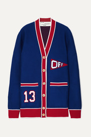 Off-White Intarsia wool-blend cardigan